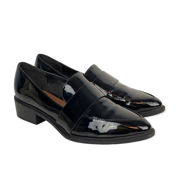H&M Black Patent Leather Loafers